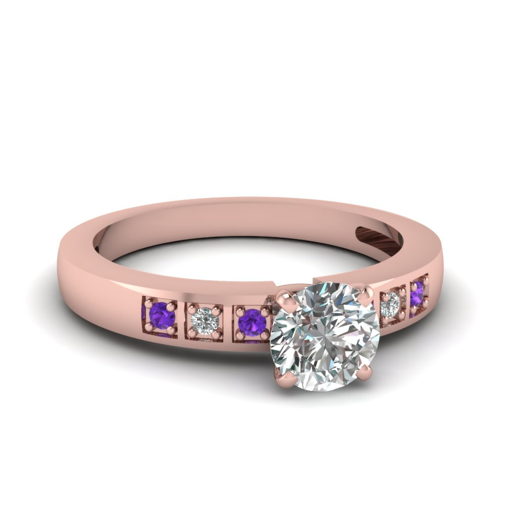 Purple Topaz Delicate Ring For Her