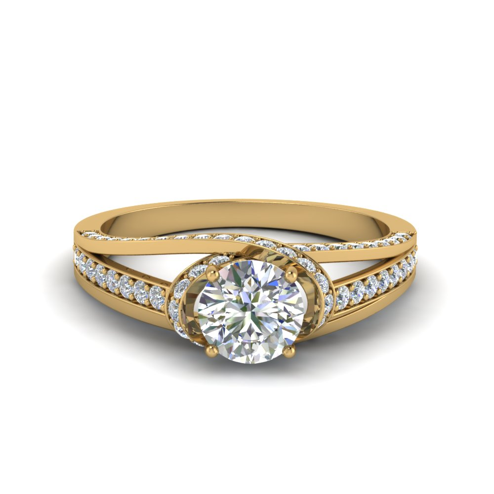 criss cross halo engagement ring in FDENR8359ROR NL YG
