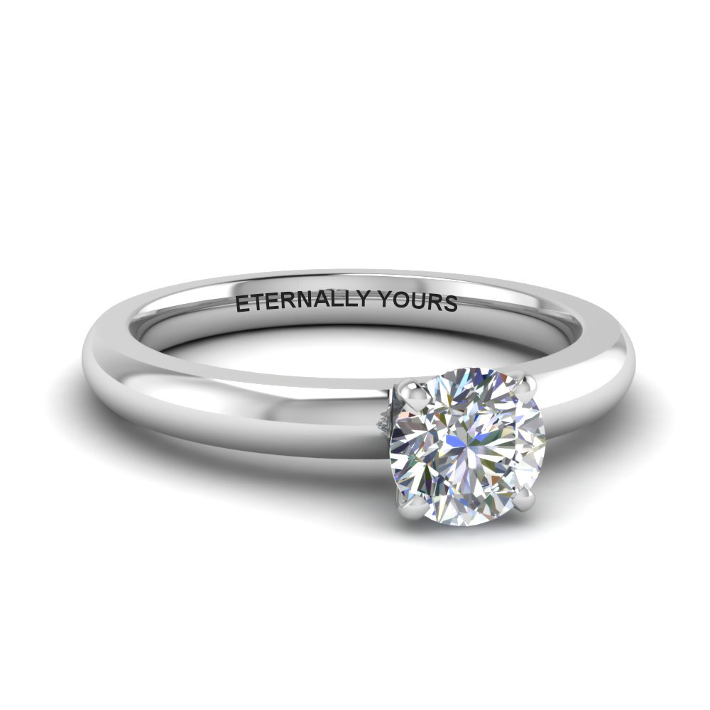 classic round diamond solitaire engagement ring in FDENR8027ROR NL WG EG