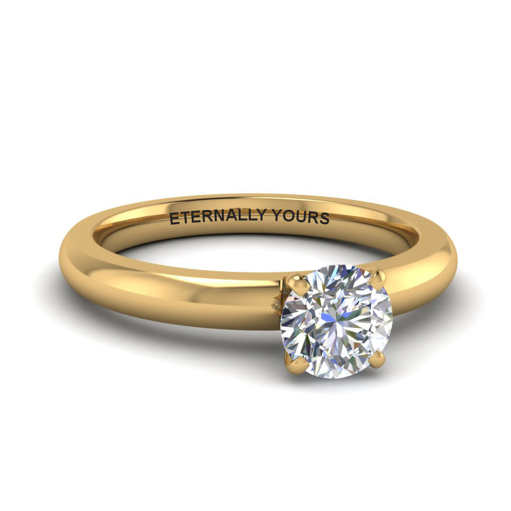 classic round diamond solitaire ring in FDENR8027ROR NL YG EG