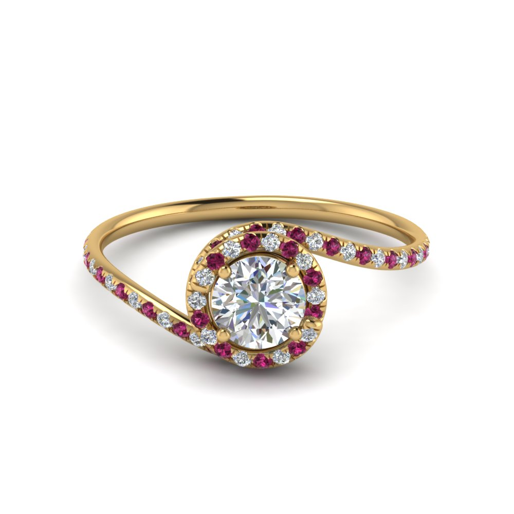 Yellow Gold Engagement Ring With Sapphire