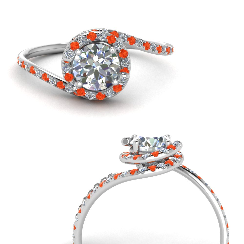 petite swirl halo diamond engagement ring with orange topaz in FDENS1295RORGPOTOANGLE3 NL WG.jpg