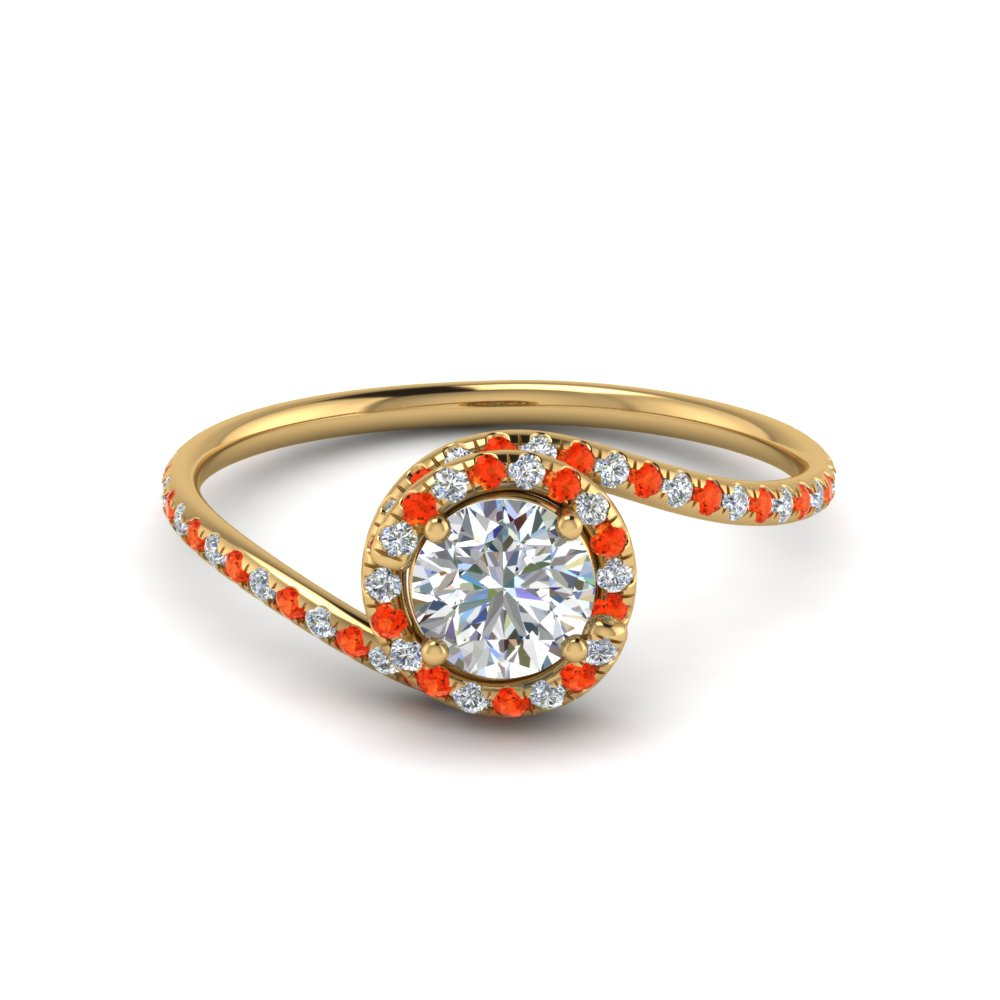 Womens Topaz Engagement Ring Halo Style