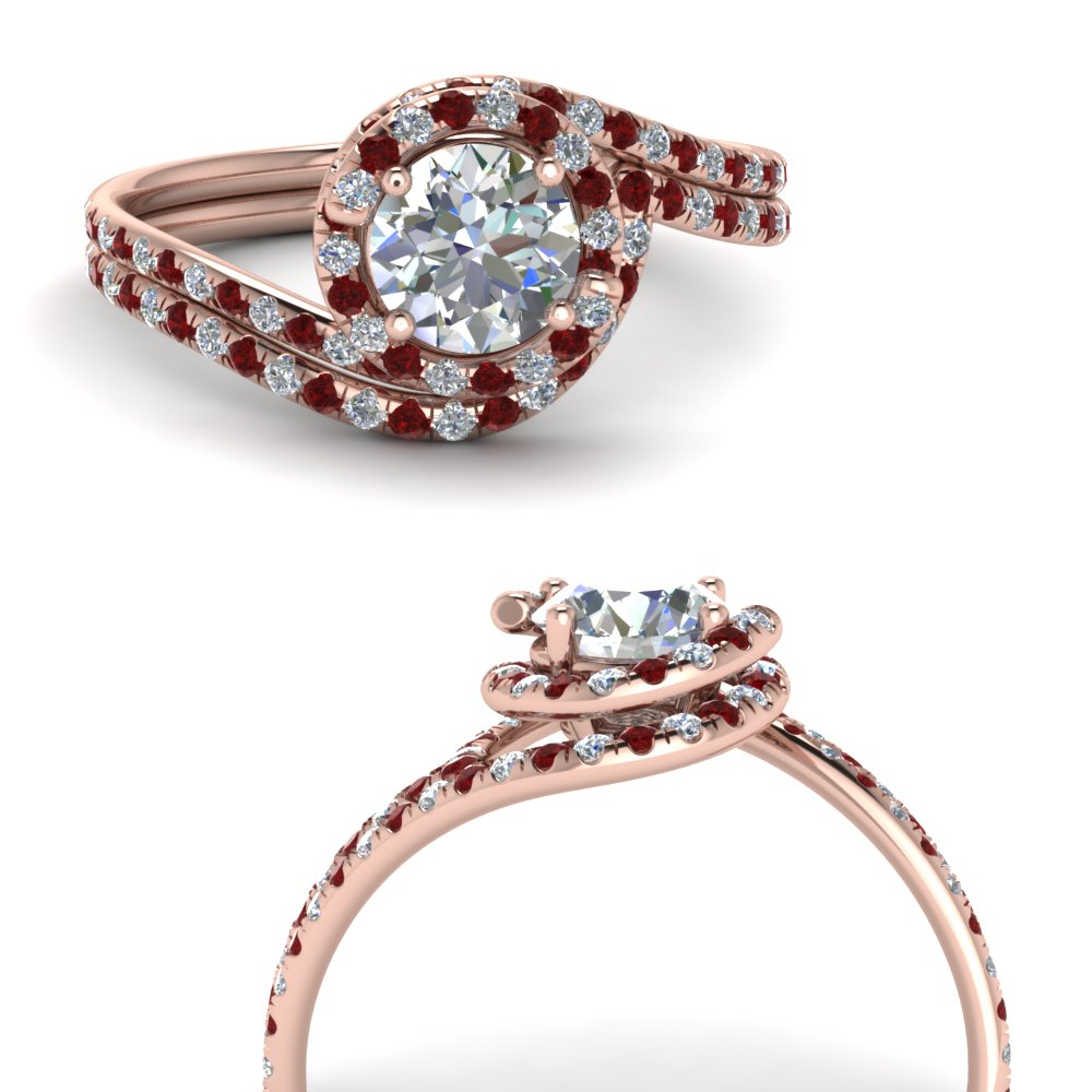 petite swirl halo diamond wedding set with ruby in FDENS1295ROGRUDRANGLE3 NL RG.jpg