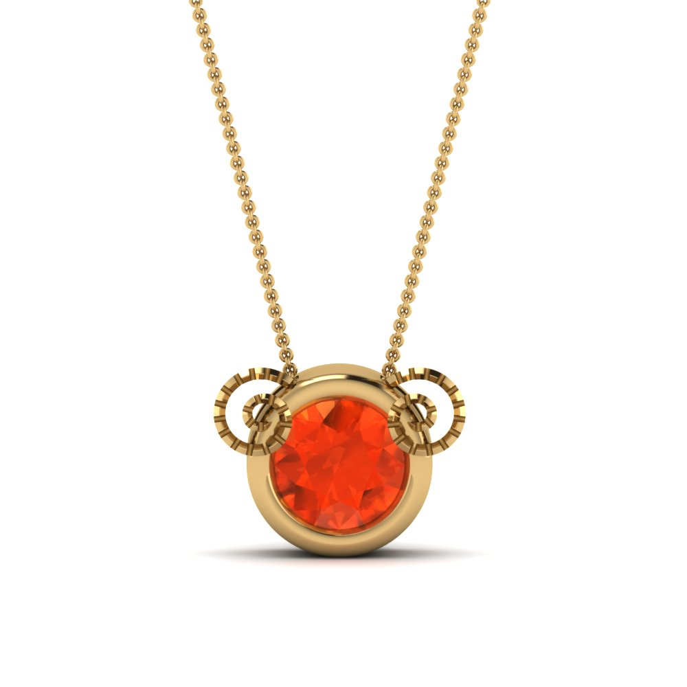 round-cut-poppy-topaz-solitaire-pendant-in-14K-yellow-gold-FDPD3081GPOTO-NL-YG