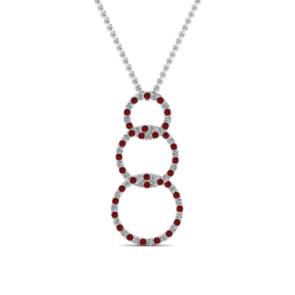 necklace cz american with ruby product red stones diamond set center stylish stone sagun