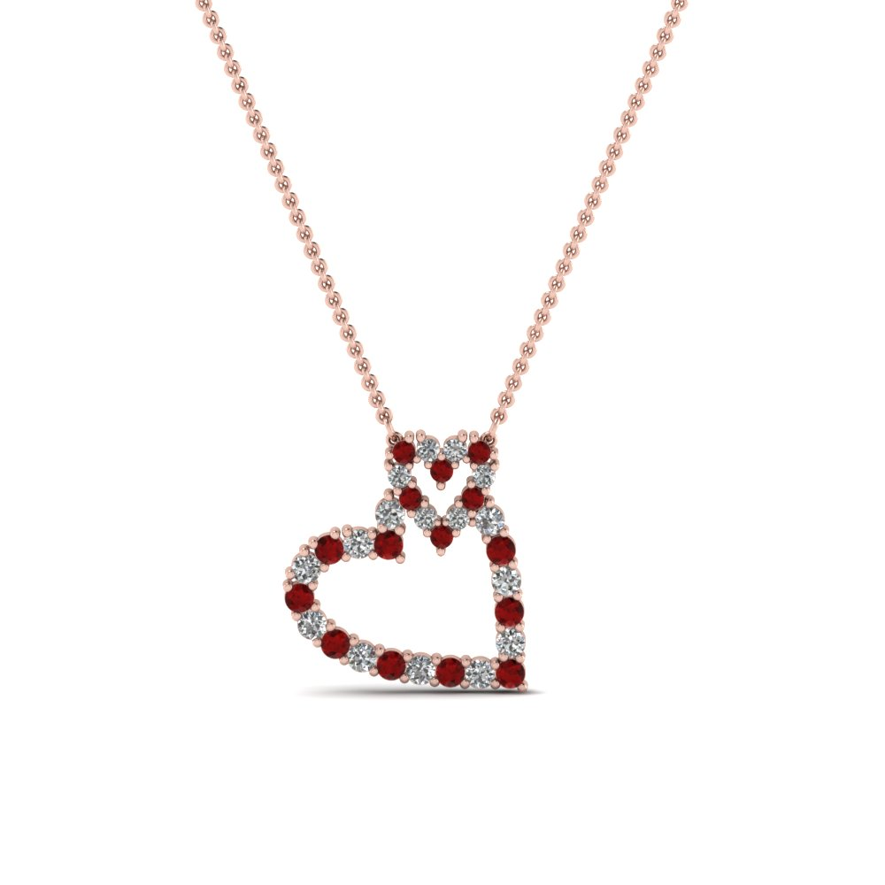 amazon red diamonds dp buy in at plated surat pendant women line necklace india beads jewellery prices low store gold for ruby real online