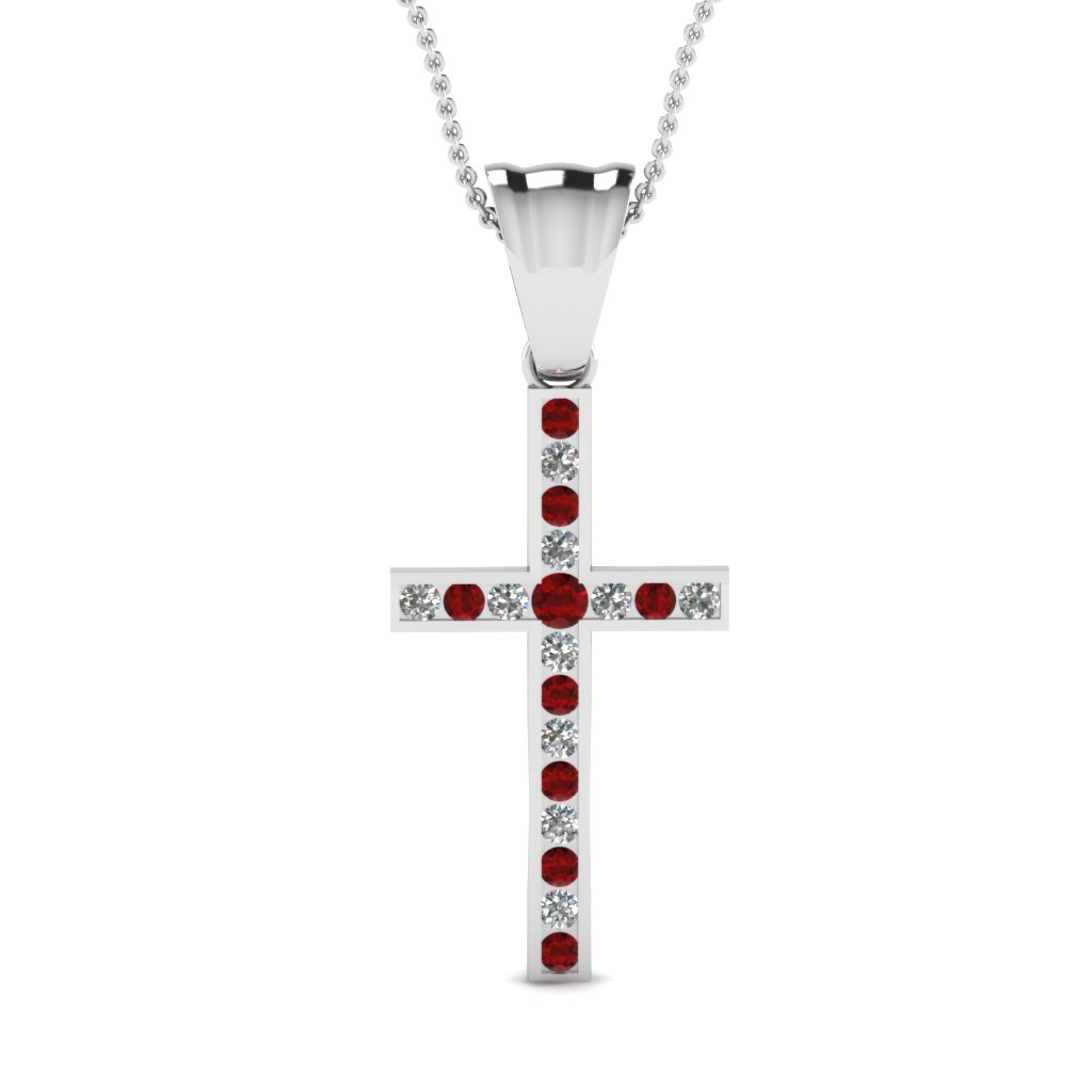 Cross Ruby Pendant