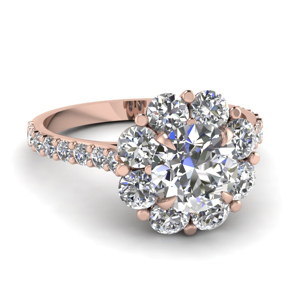 floral halo diamond engagement ring in 14K rose gold FD68893ROR NL RG.jpg