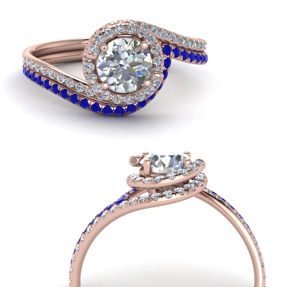 simple diamond halo swirl bridal set with sapphire in FDENS1295ROGSABLANGLE3 NL RG GS.jpg