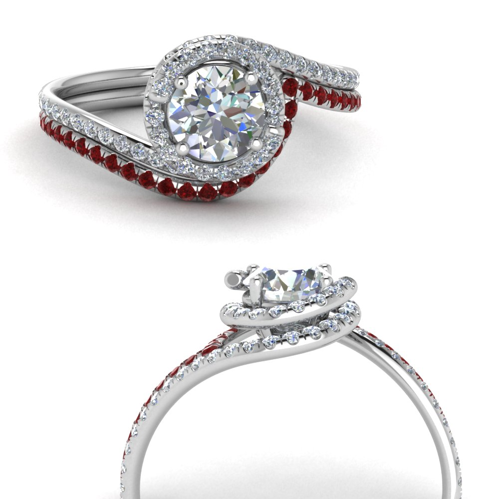 simple diamond halo swirl bridal set with ruby in FDENS1295ROGRUDRANGLE3 NL WG GS.jpg