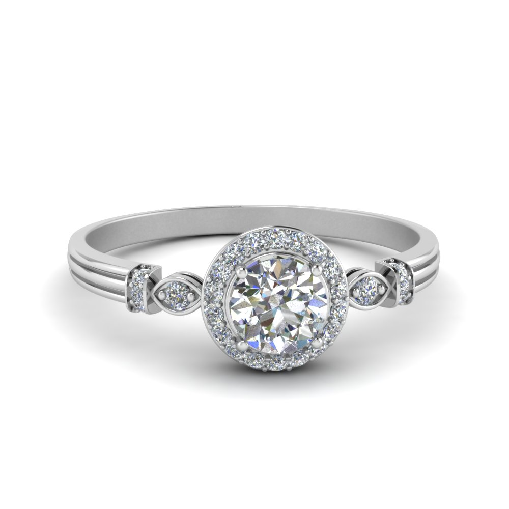 Delicate Art Deco Halo Ring