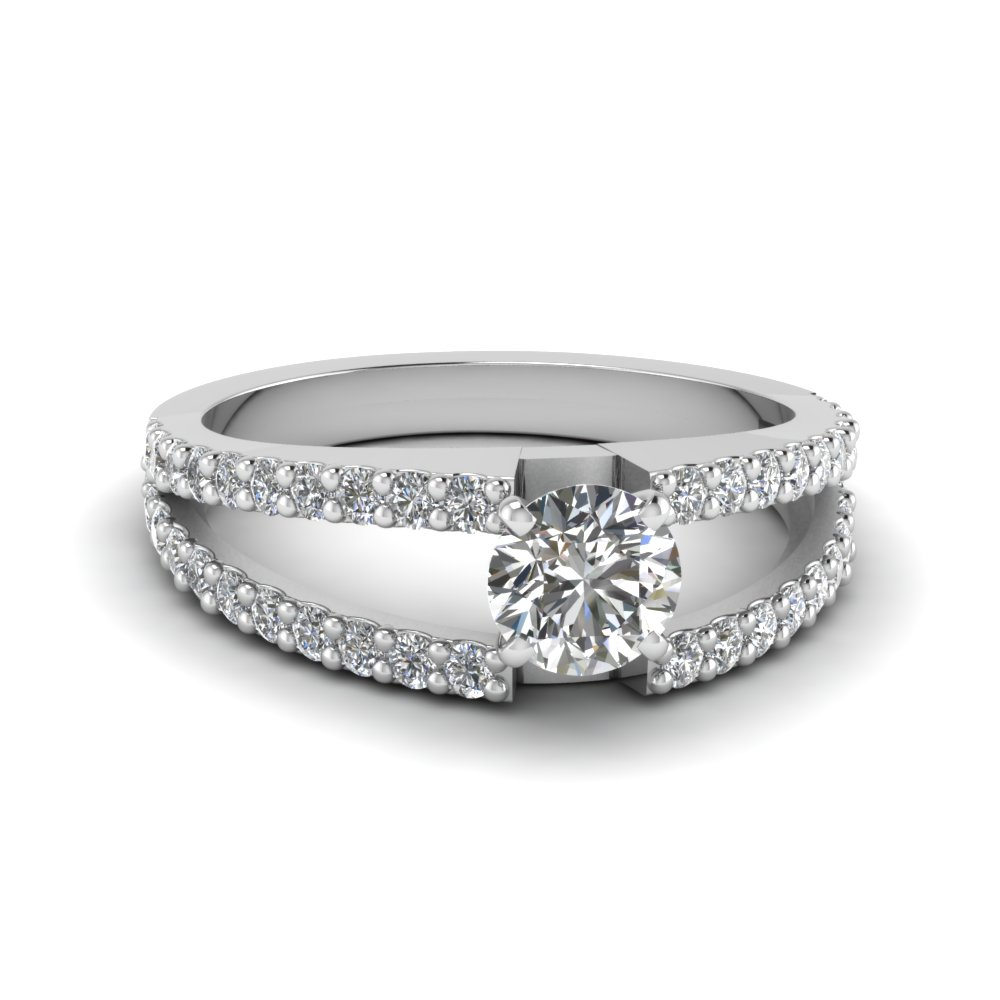Split Shank Round Engagement Rings
