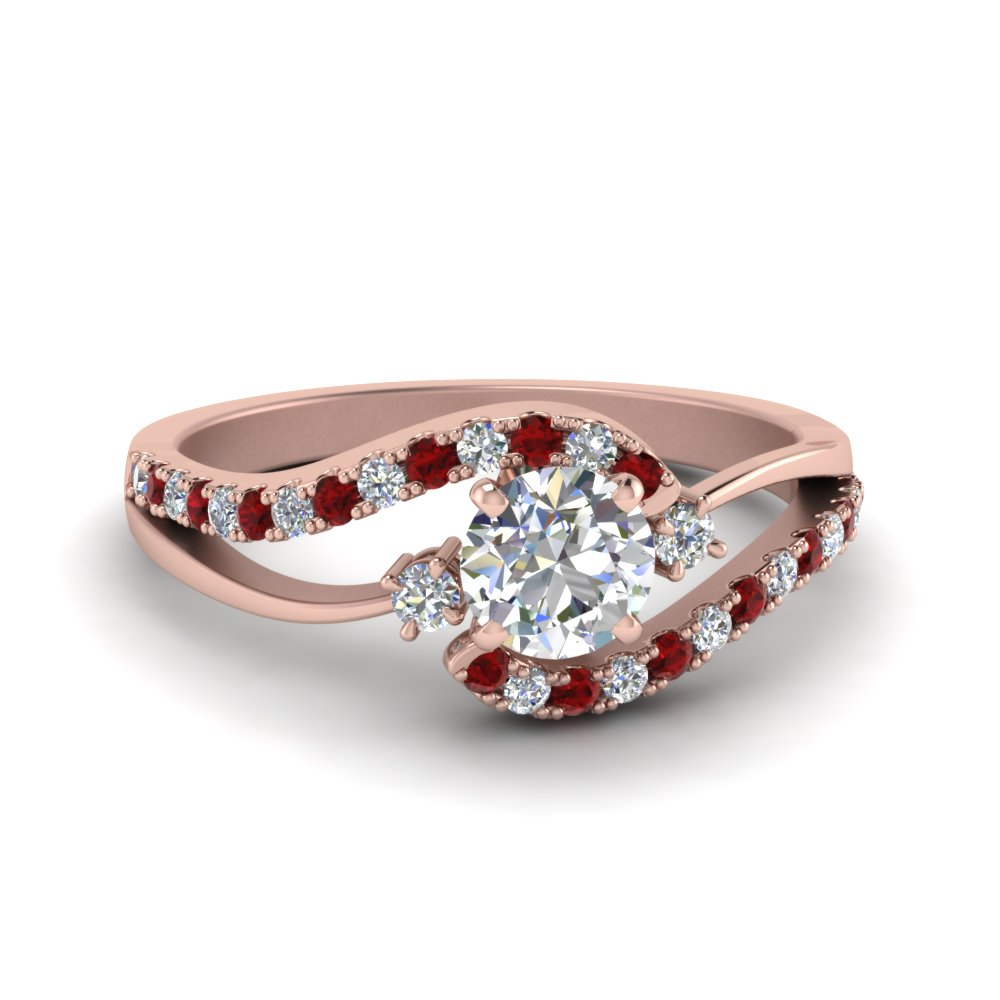 Swirl Ruby Engagement Ring