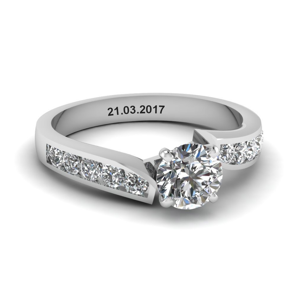 unique swirl round diamond engagement ring in FDENR1115ROR NL WG EG