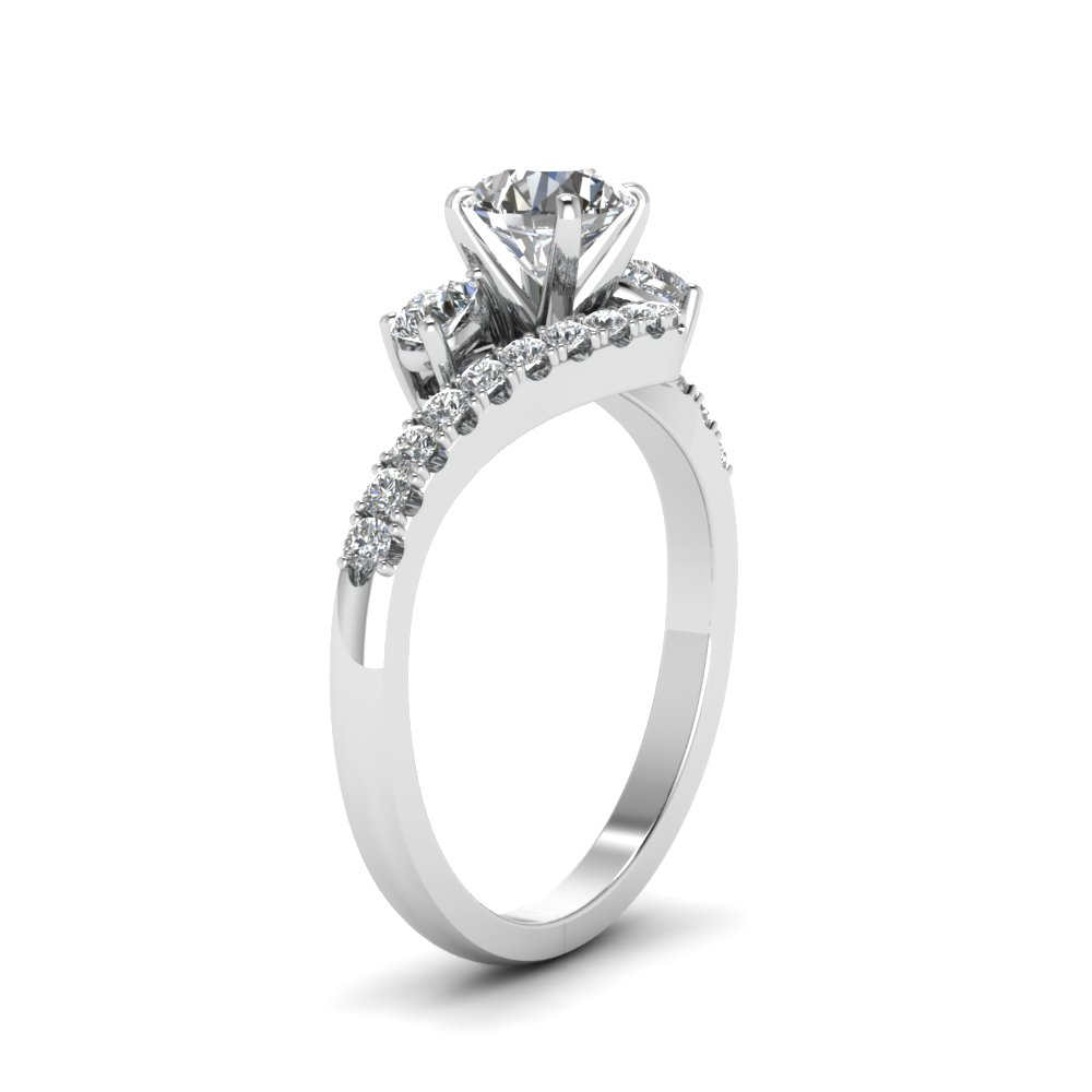 Swirl Halo High Set Diamond Ring