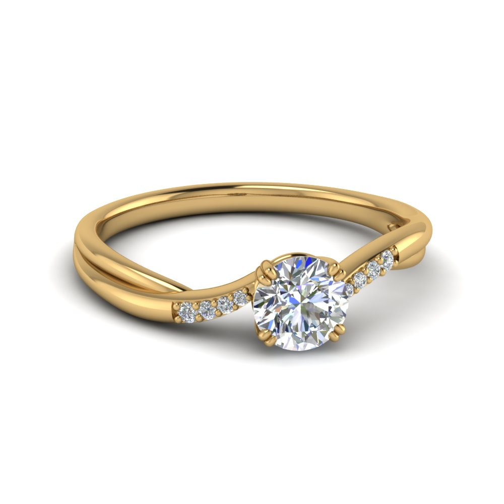 Thin Twisted Engagement Ring