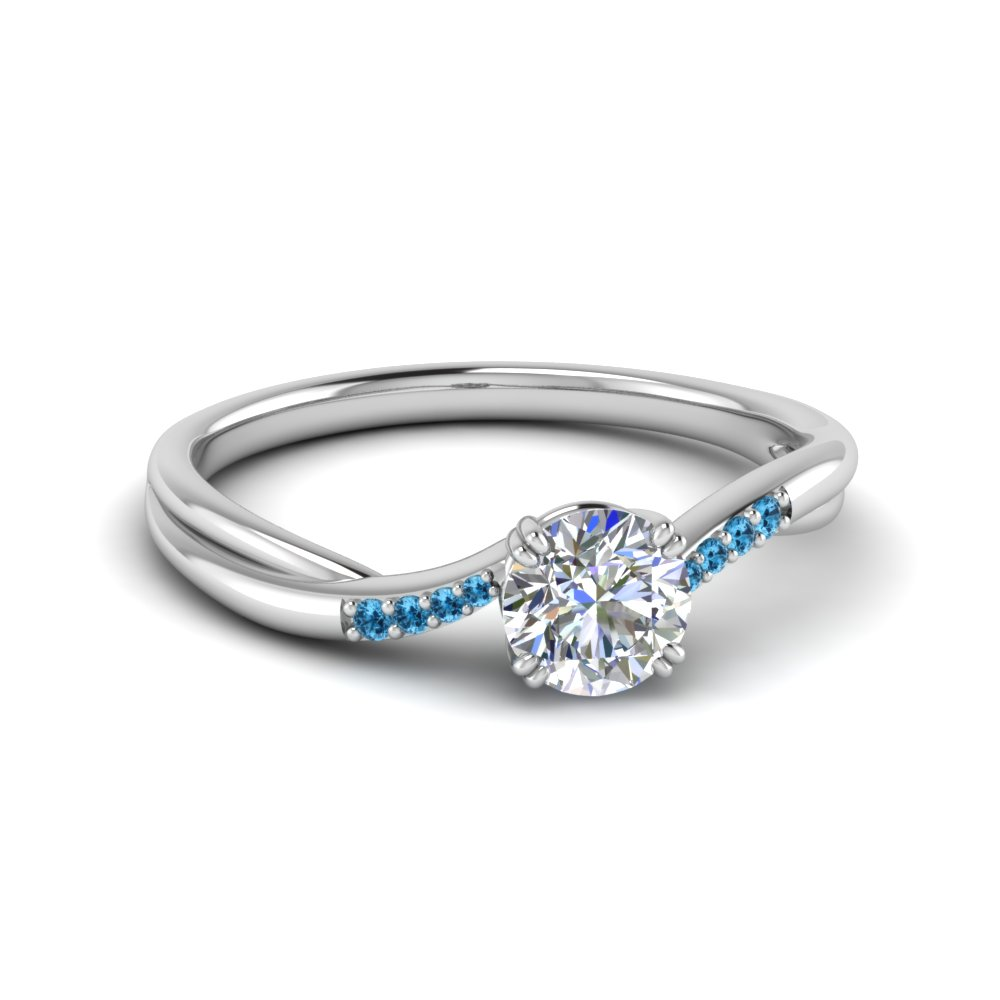 Blue Topaz Platinum Ring