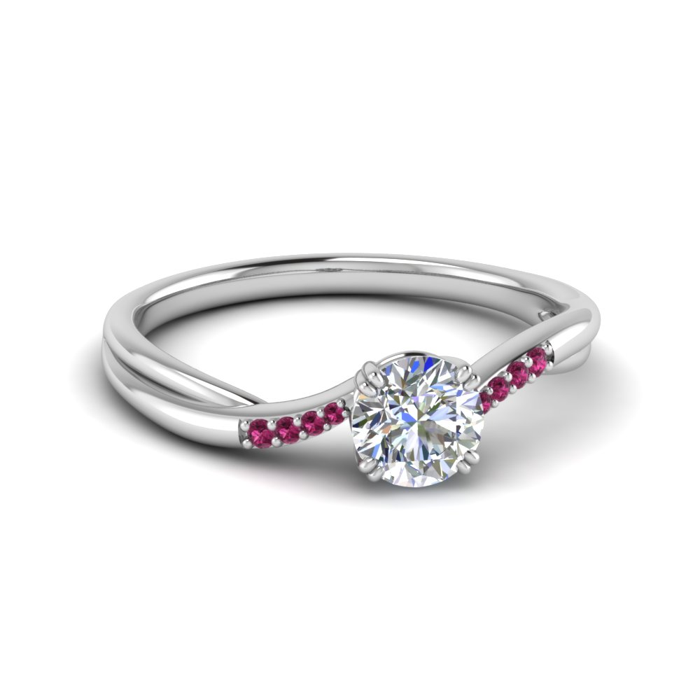 Pink Sapphire Twisted Ring