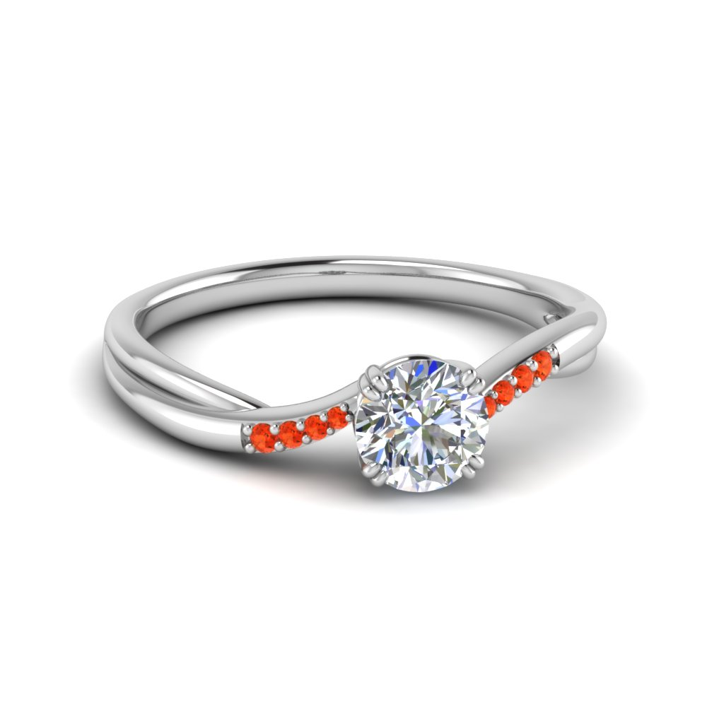 Orange Topaz Petite Ring