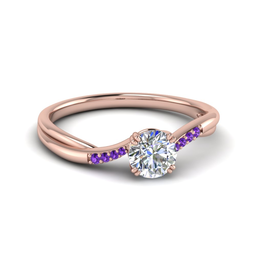 Purple Topaz Rose Gold Ring