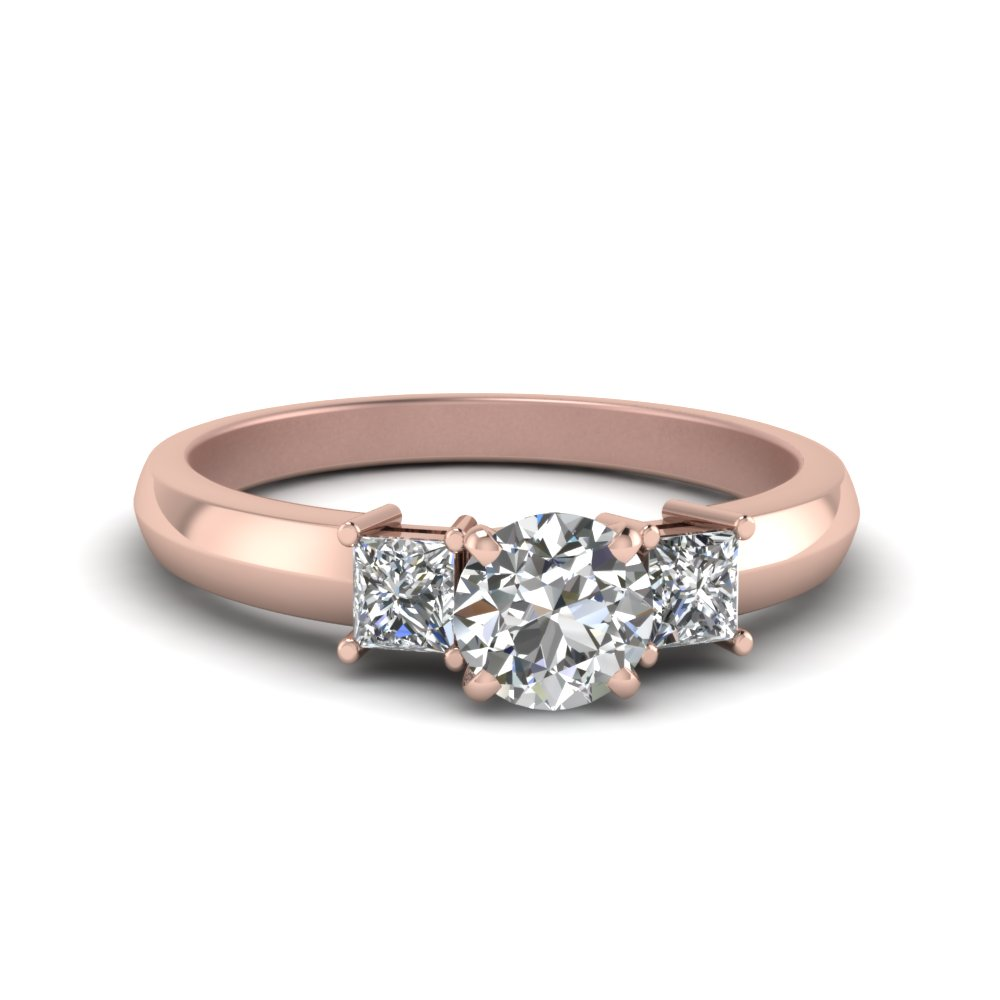 Round Cut Basket Diamond Wedding Ring