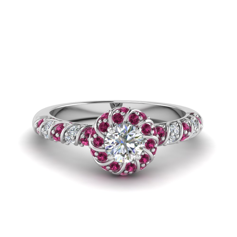 Beautiful Pink Sapphire Wedding Ring