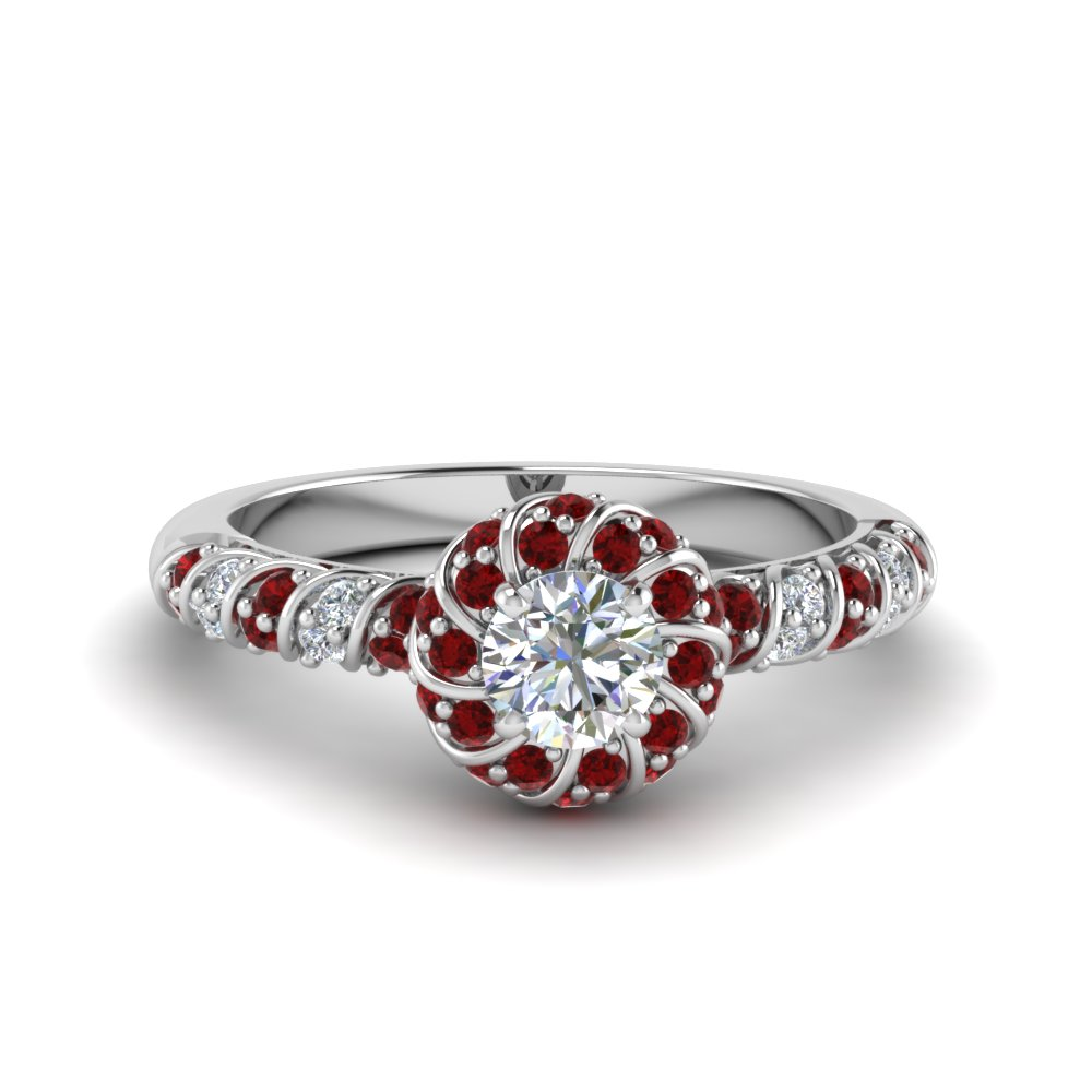 Twisted Ruby Wedding Ring