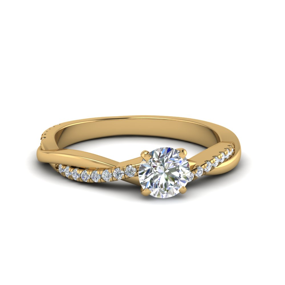 round cut twisted vine diamond engagement ring in FD8253ROR NL YG.jpg
