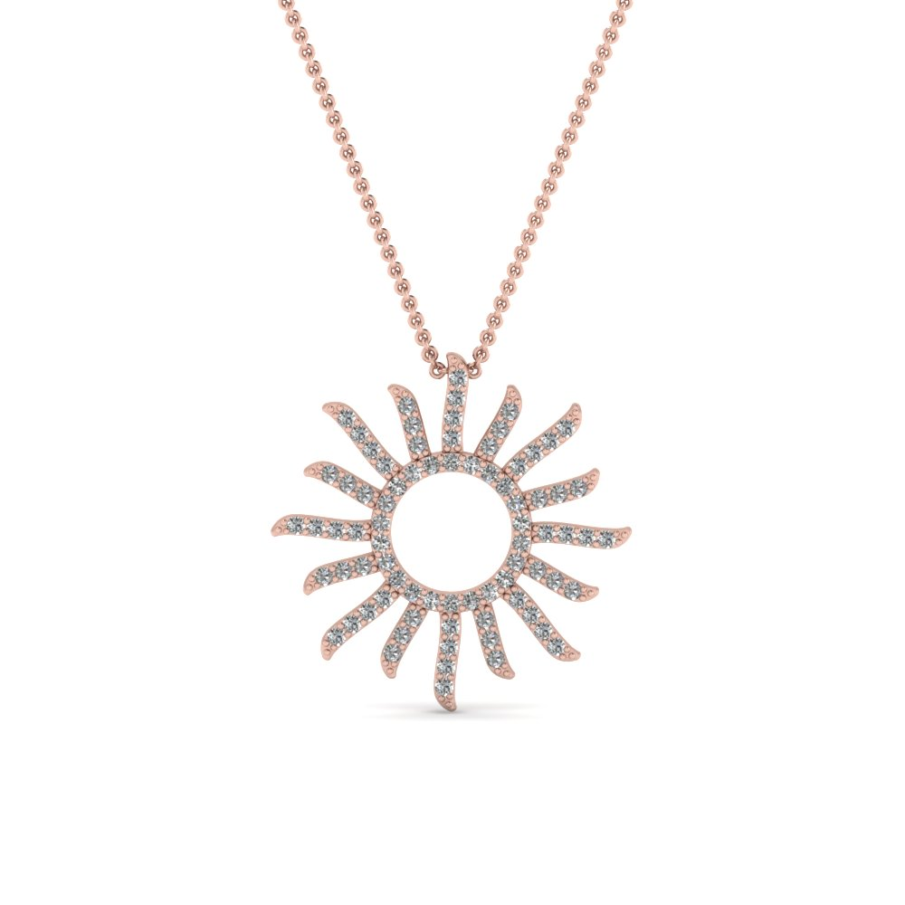 Sun Design Diamond Pendant