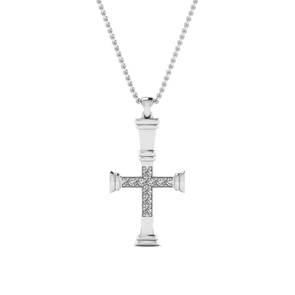 round-cut-white diamond-religious-pendant-with-white-diamond-in-14K-white-gold-FDRPD502-NL-WG