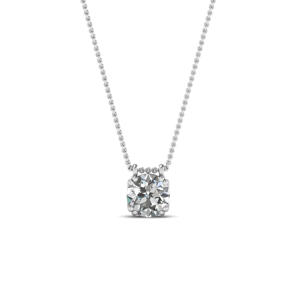 Buy solitaire diamond pendants necklace online fascinating diamonds round cut white diamond solitaire pendant in 14k mozeypictures