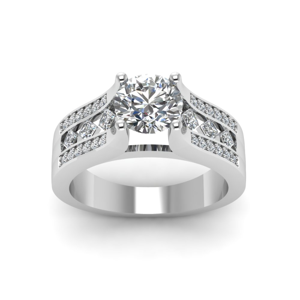 loading split rings diamond h ring cut engagement itm ct gold white is prong emerald shank image