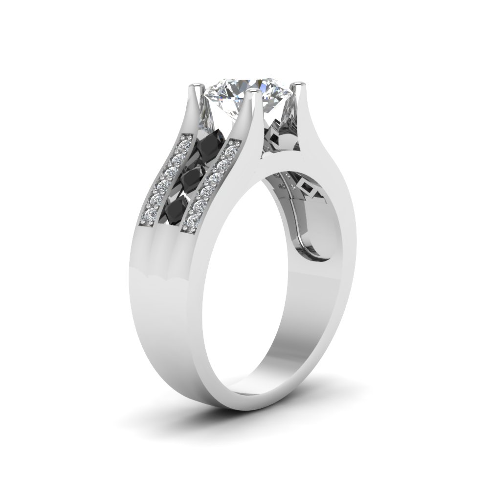 with diamond side prong classic rings engagement cut ring