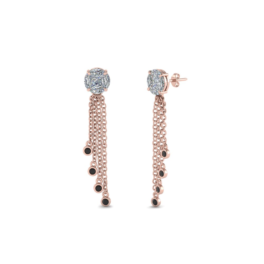 Marquise & Princess Cut Drop Earring