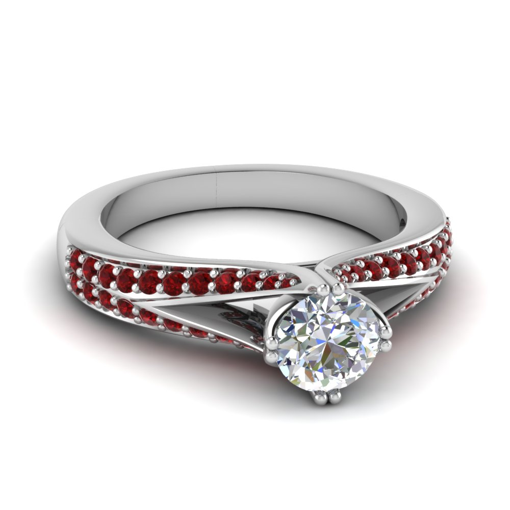 round diamond and ruby ring in FDENR8205RORGRUDR NL WG GS