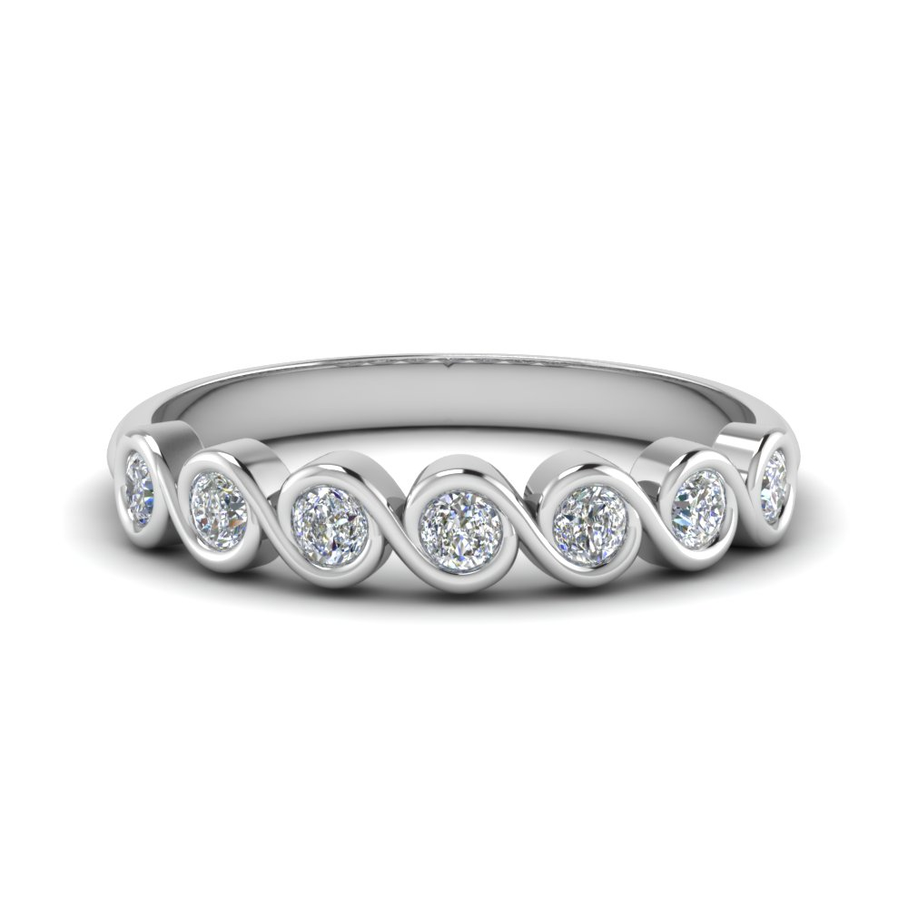 0.50 Carat Diamond Swirl Band
