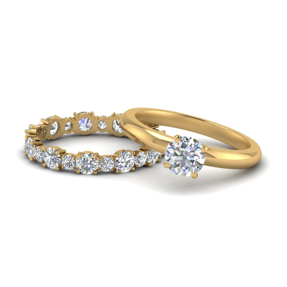 Solitaire With Eternity Band Set