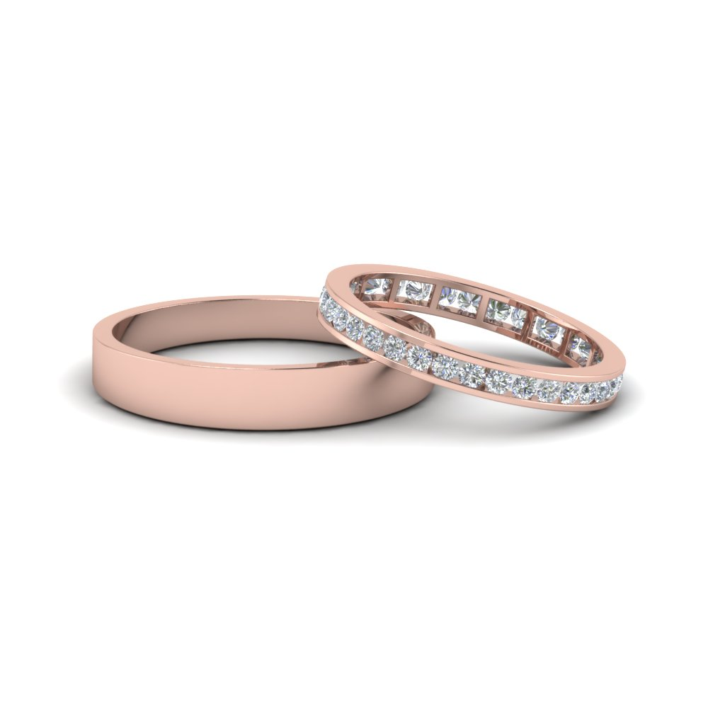 Eternity Matching Ring With Plain Band