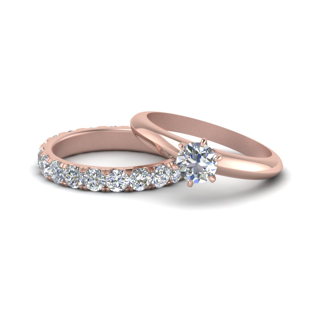 Round Cut Solitaire With Eternity Set