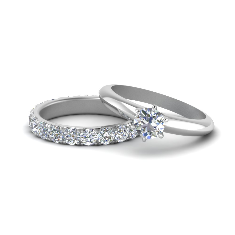 Solitaire Ring With Eternity Band