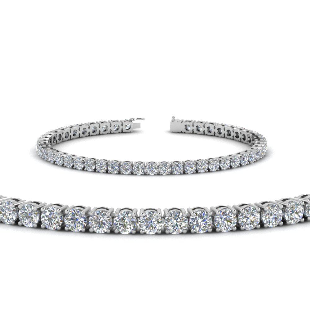 Round Diamond Tennis Bracelet 7 Carat In
