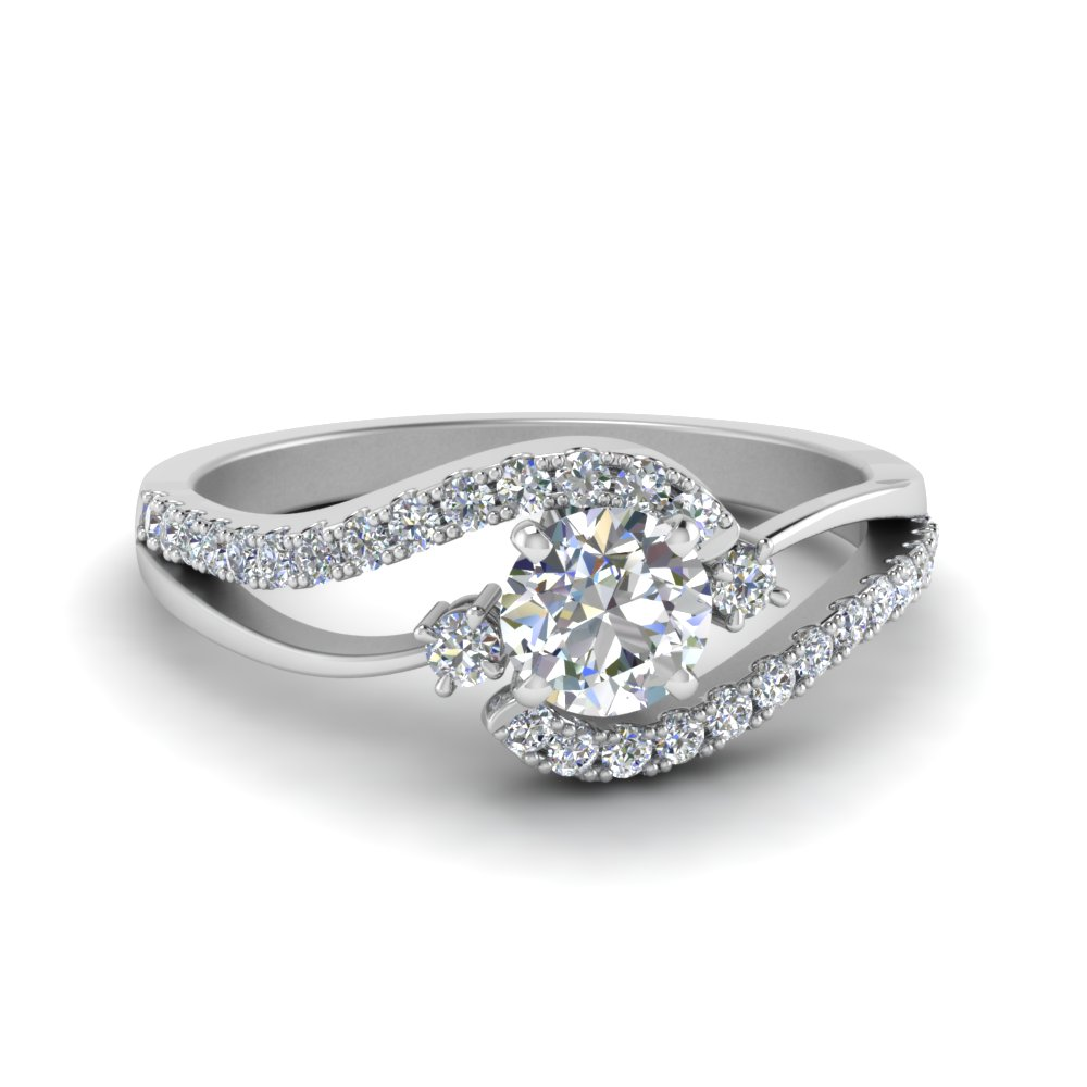 engagement infinity wedding pin round combo twisted band ring with rings diamond