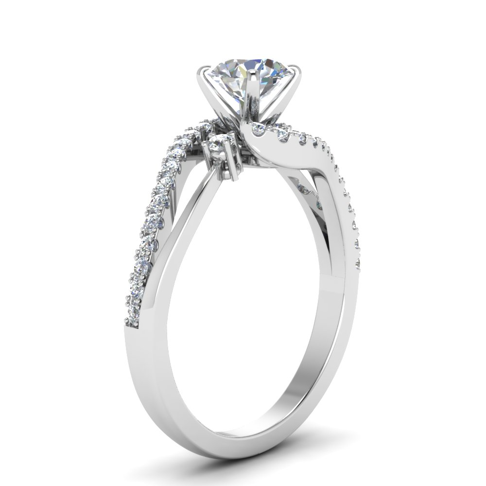 Twisted High Setting Wedding Ring