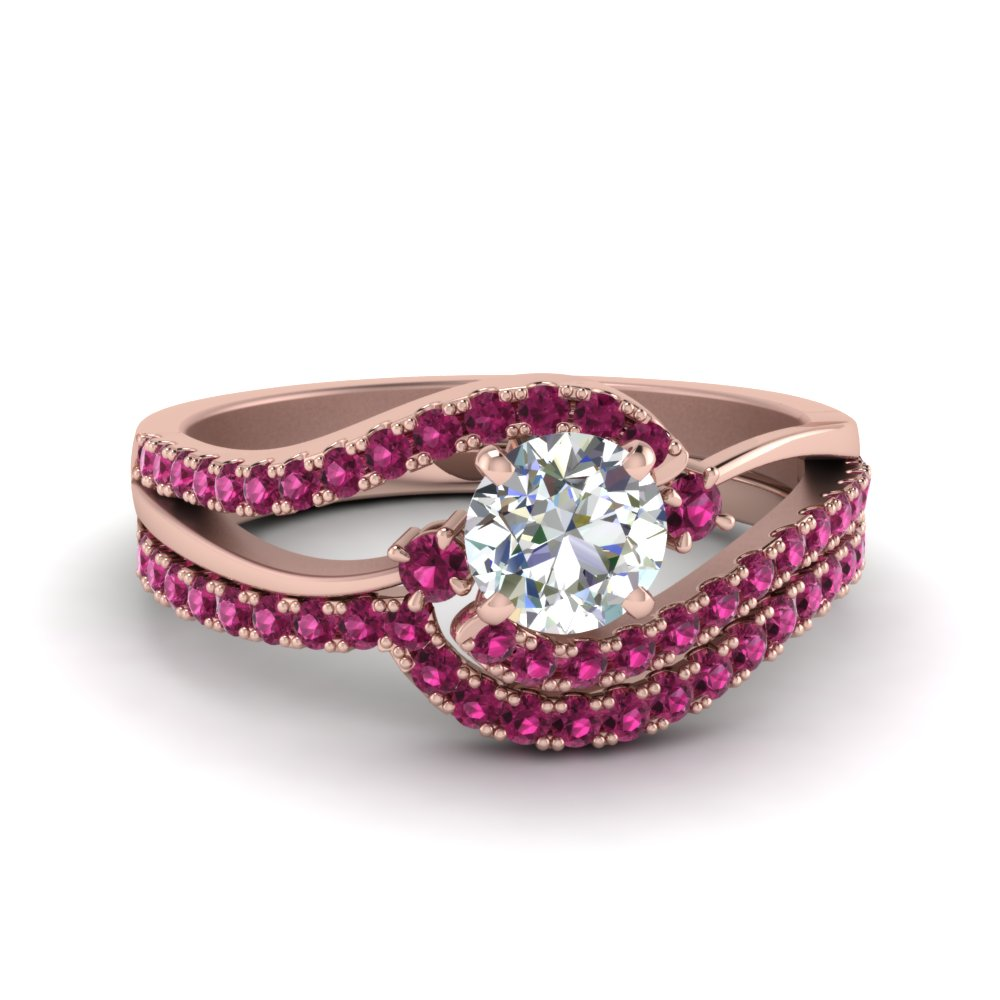 round-diamond-twisted-wedding-ring-set-with-pink-sapphire-in-FDO50895ROGSADRPI-NL-RG-GS1