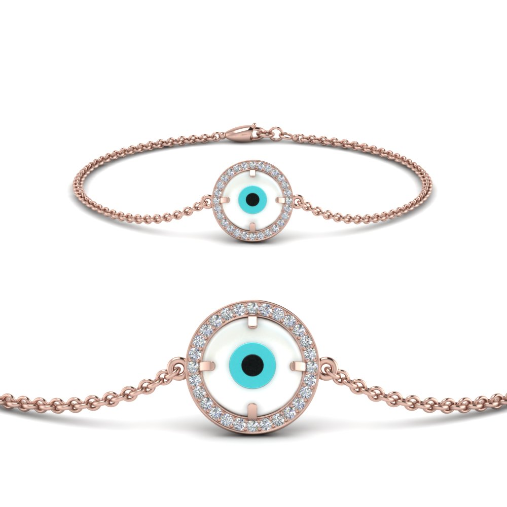 Round Evil Eye Diamond Bracelet