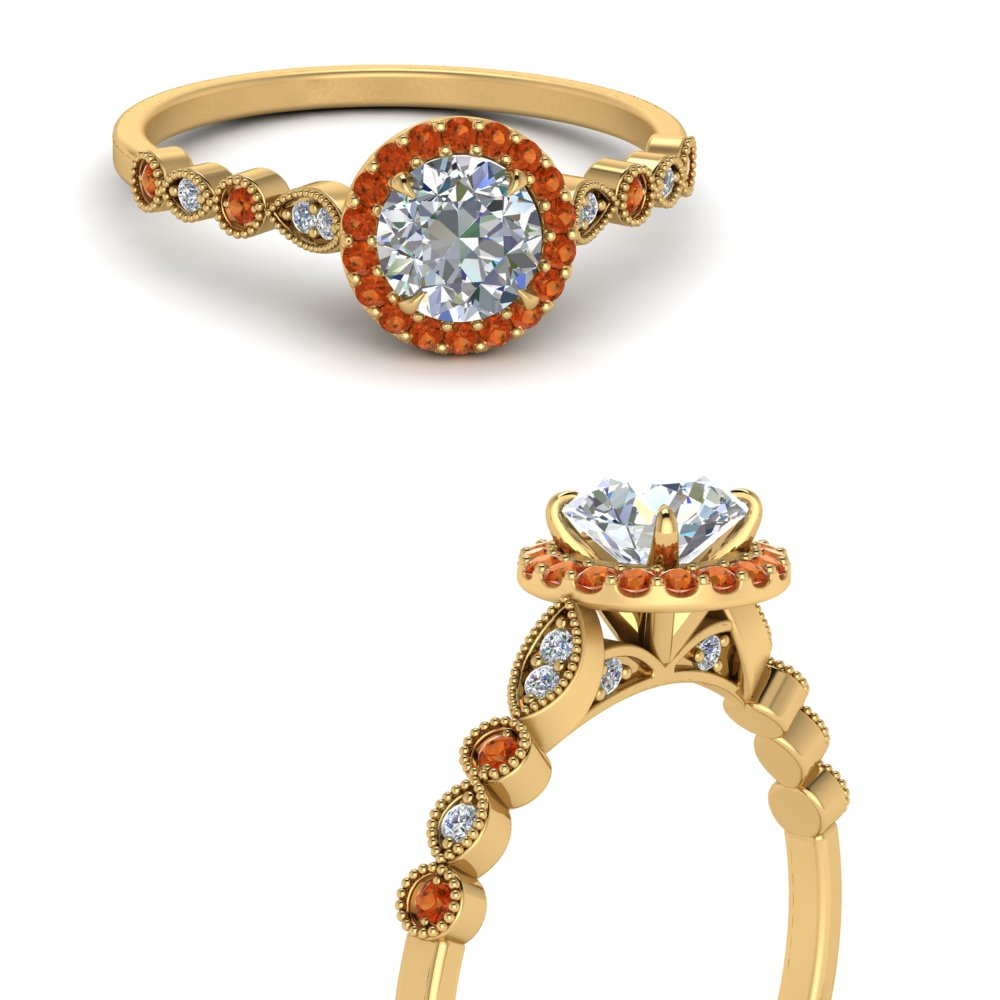 round-marquise-and-dot-halo-engagement-ring-with-orange-sapphire-in-FDENS3274RORGSAORANGLE3-NL-YG