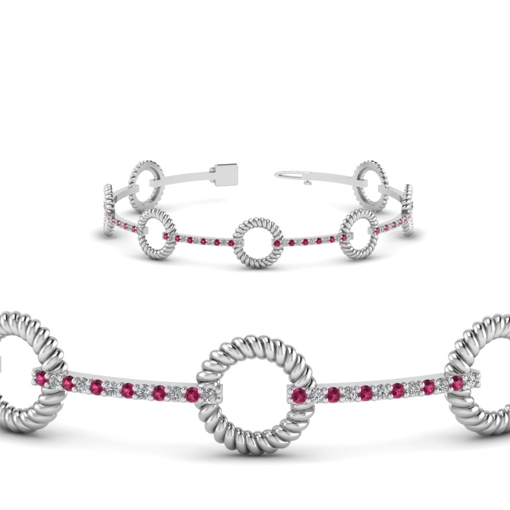 diamond asprey details jewellery white bracelet product and gold sapphire pink