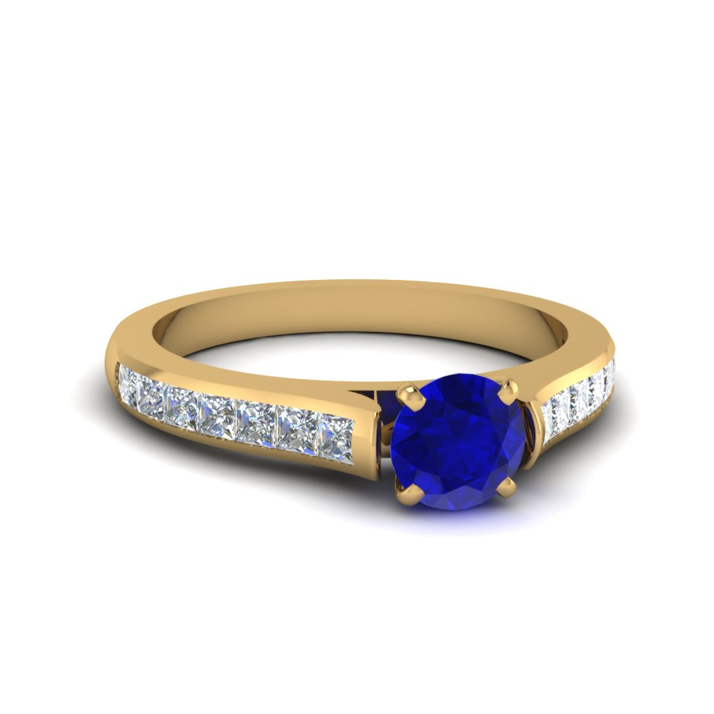 Cathedral Colored Engagement Ring