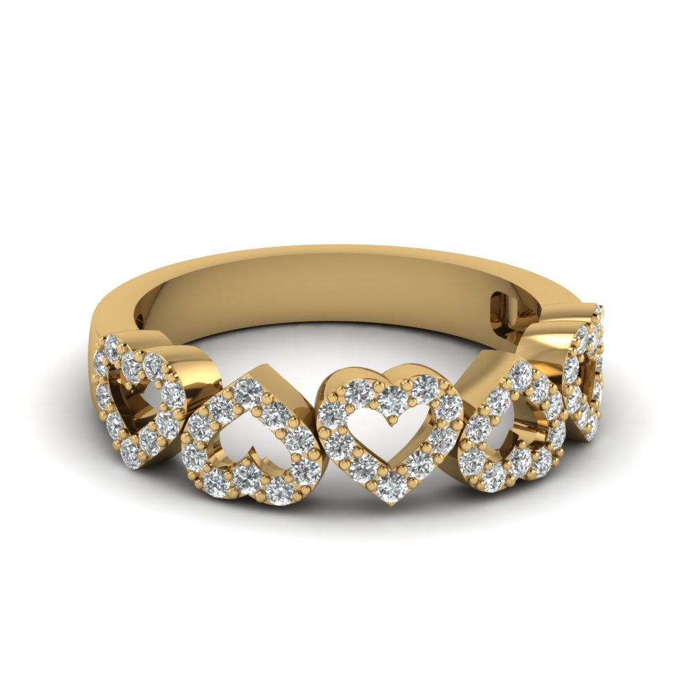 Inexpensive Heart Style Band With Diamonds
